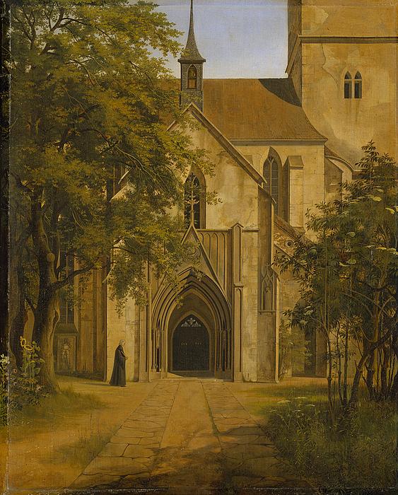 Indgang til en gotisk kirke