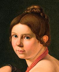 Albert Küchler: Marie Lehmann som italienerinde med tamburin, u.å.