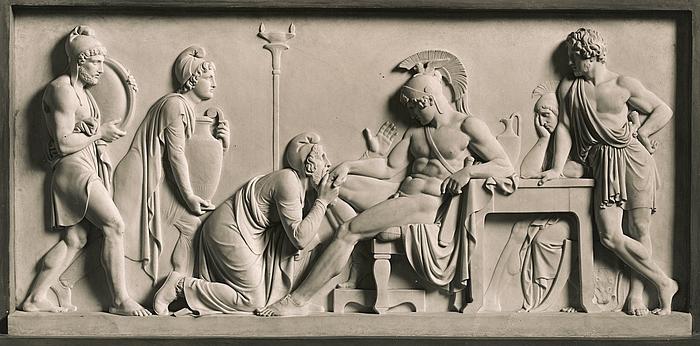 Priamos b?nfalder Achilleus om Hektors lig