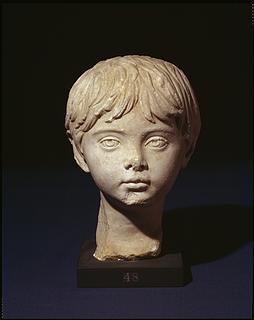 Portrætskulptur af en ung dreng. Romersk