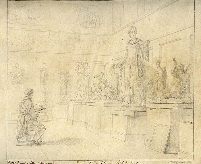 Peter Henrik Gemzøe: Antiksalen 1835
