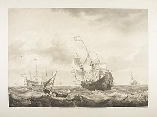 Hollandske skibe sejler for fuld vind
