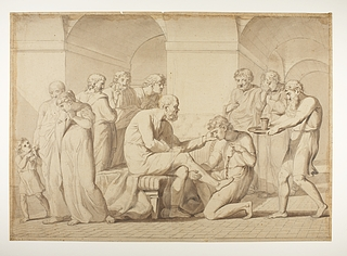Sokrates får giftbægeret bragt