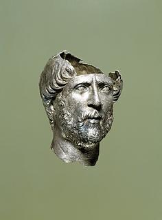 Miniatureportr?t af en mand. Romersk
