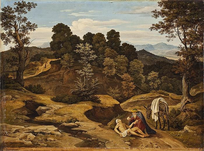 landskab med den barmhjertige samaritan b145