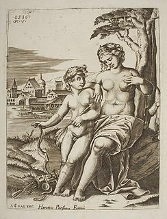 Venus såret af Amors pil
