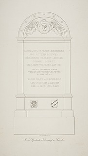 Gravonument over grevinde Marianna og grev Alois af Rechberg og Rothen Loewen