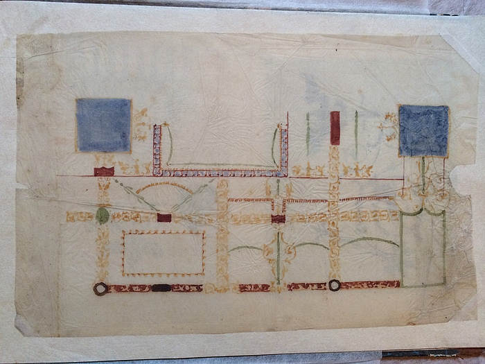 Loftsdekoration i Pompeijansk stil