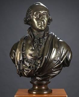 Nicolai Dajon: A.P. Bernstorff, antagelig ca. 1797, bronze, 71 cm, Peter Brandt-Jensen Antikviteter. Foto lauritz.com