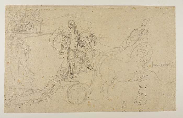 Achilleus slæber Hektors lig efter sin vogn, og andre skitser
