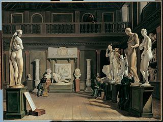 Ditlev Martens, Antiksalen på Charlottenborg, 1821, i 2005 i Thomas le Claire kunsthandel, Hamburg