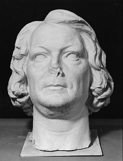 Johan Peter Molin: Thorvaldsen, gips, 135 cm, Nationalmuseum, Stockholm, inv.nr. NMSk 641