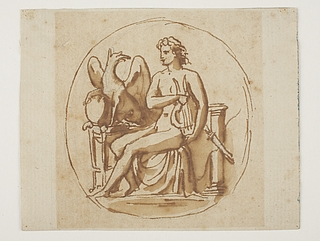 Apollon med lyre og en grif