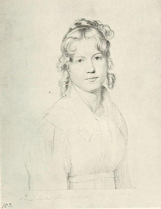Carl Christian Vogel von Vogelstein (1788-1868): Louise Seidler in Rom, 1820, pen on paper, Staatliche Kunstsammlungen Dresden, Kupferstich-Kabinett
