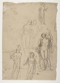 Bacchus. Diomedes med Palladiet. Hebe(?)