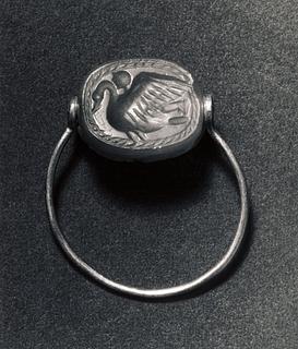 Apollon på ryggen af en svane. Etruskisk skarabæ