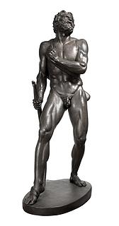 H.W. Bissen: Filoktet, 1854-1855, 194 cm, bronze, støbt 1881,  Statens Museum for Kunst, inv.nr. KMS5241a