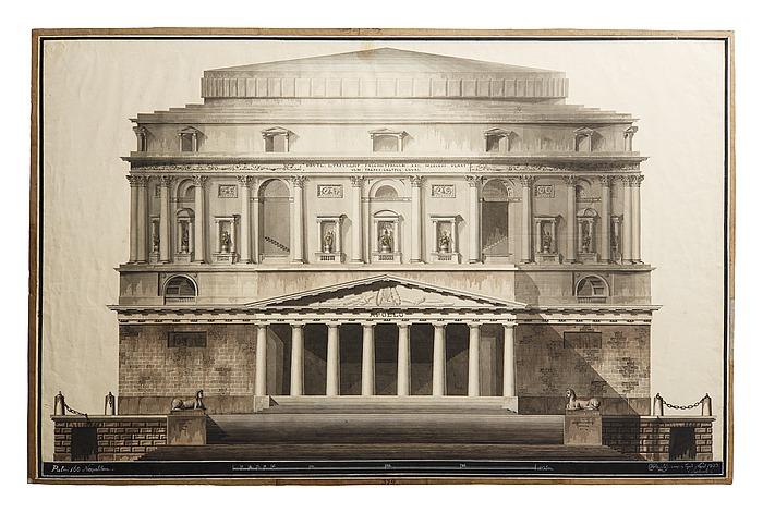 Teater i romersk stil, opstalt af facade