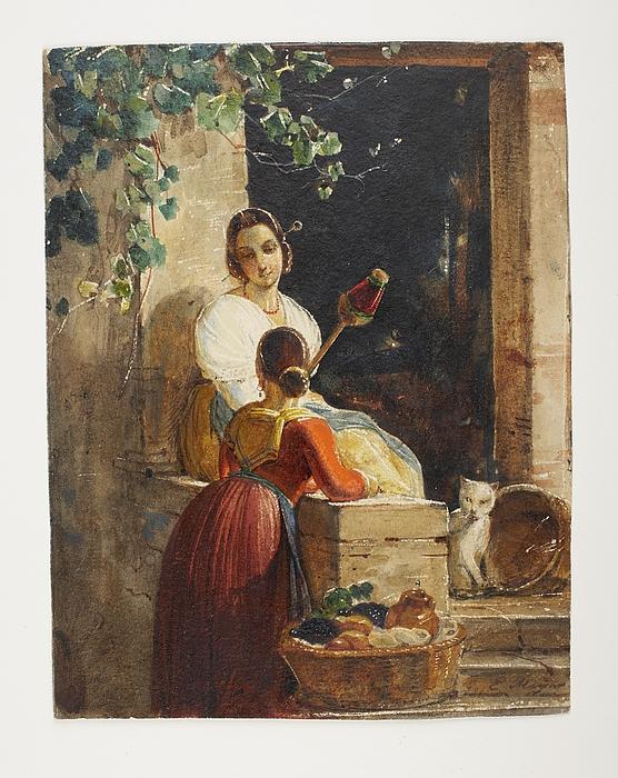 To italienerinder ved et landhus