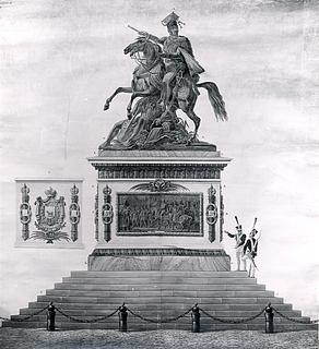 Orlowski: Udkast til Poniatowski-statue, 1818