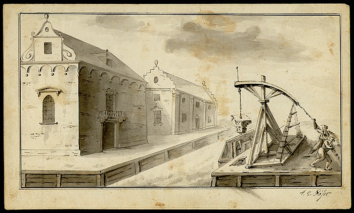 Havneprospekt med arbejdere
