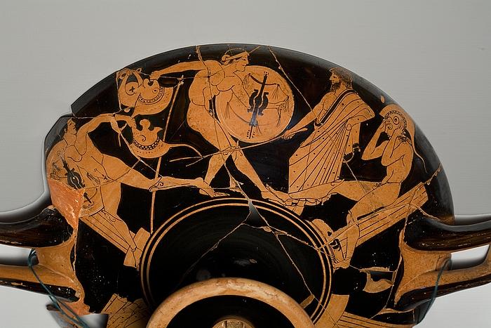 Kylix med sportsscener (A, B, tondo). Græsk