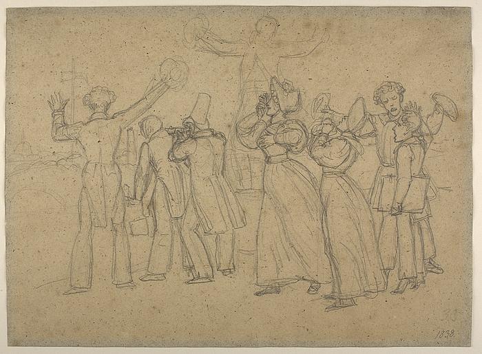 Tilskuere til Thorvaldsens hjemkomst 17. september 1838