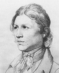 Julius Schnorr von Carolsfeld: Selvportræt, 1820, detalje
