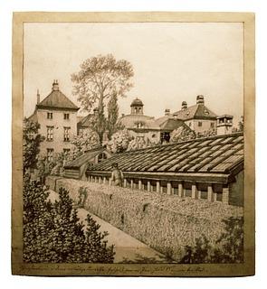 Botanisk Have bag Charlottenborg, 1857