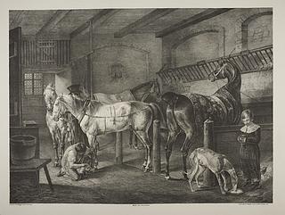 Heste i en stald