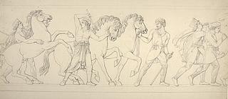 Tre heste fra Persien. Musikanterne