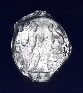 Ødipus og Sfinxen. Hellenistisk-romersk paste