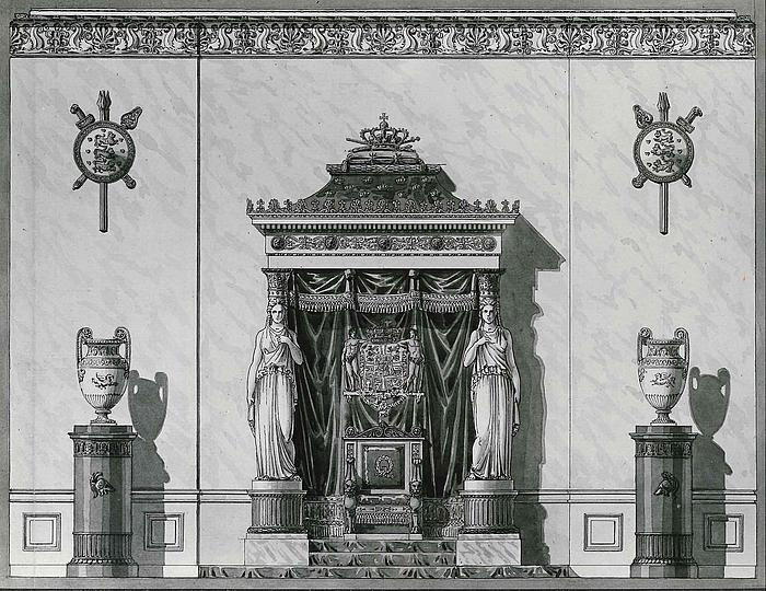 C.F. Hansen: Trongemak, Christiansborg