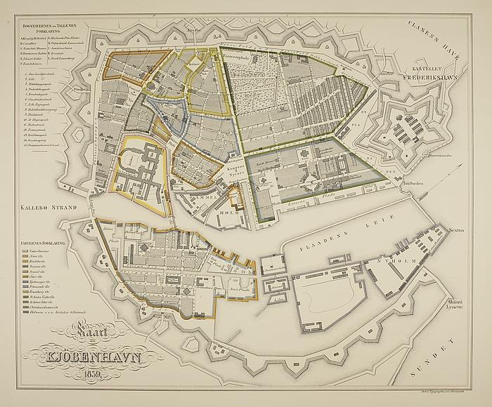 Kort over København 1839