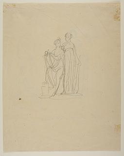 Erato og Melpomene eller Apollon og Melpomene