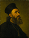Portræt af en armenisk præst. På bagsiden nøgenstudie af en ung mand