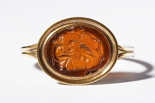 Ganymedes med ørnen. Hellenistisk-romersk ringsten