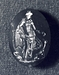 Apollon med lyre, en grif og en svane. Hellenistisk-romersk ringsten