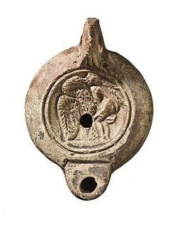 Lampe med Leda og svanen. Romersk