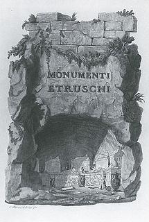 C. Francesco Inghirami: Illustration i bogværket Di Urne Etrusche, Fiesole, 1821