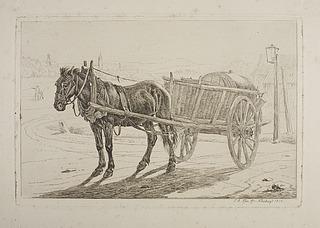 Hest med ølkarre