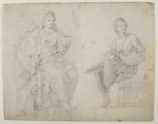 To kvindelige og en mandlig figur
