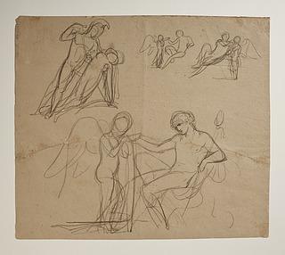 Bacchus giver Amor at drikke. Achilleus og Penthesilea. Venus og Amor eller Hygieia og Amor