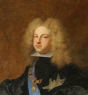 Hyacinthe Rigaud: Portræt af Philip 5 (detalje), 1700-01