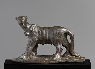 Drægtig tiger. Romersk statuette