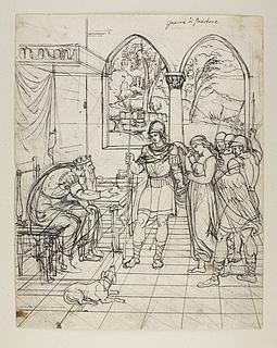 Oskar bringer pigen til kong Anniro