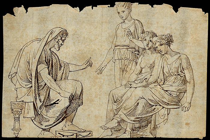 Scene med Jupiter (?), Venus og Juno