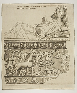Penthesilea og amazoner i kamp