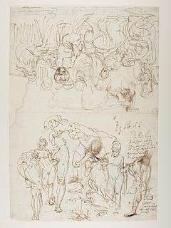 Priamos bønfalder Achilleus om Hektors lig. Ganymedes med ørnen
