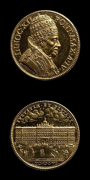 Medalje forside: Innocent 12. Medalje bagside: Palazzo del Monte Citorio